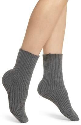 Lemon Ribbed Crew Socks