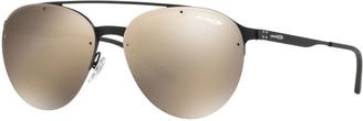 Arnette AN3075 Dweet D 57mm Rectangle Mirrored Sunglasses
