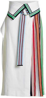 Diane von Furstenberg Skirt with Multicolored Stripes