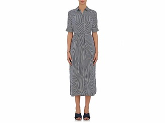 ATM Anthony Thomas Melillo Women's Silk Charmeuse Belted Shirtdress $495 thestylecure.com
