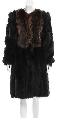 pradaPrada Shearling Long Coat