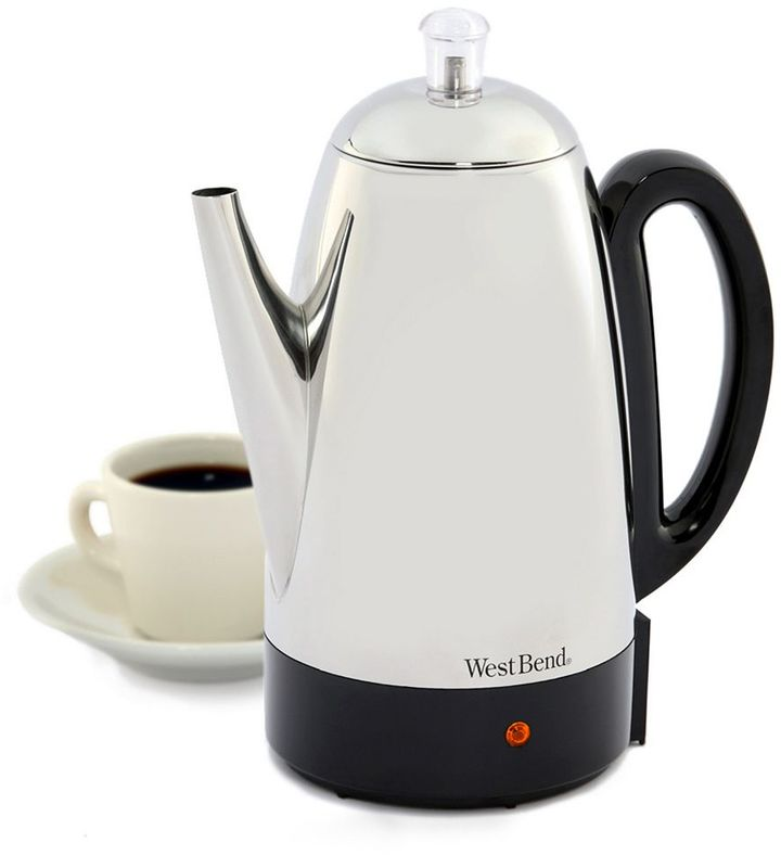 West Bend 12-cup Stainless Steel Percolator