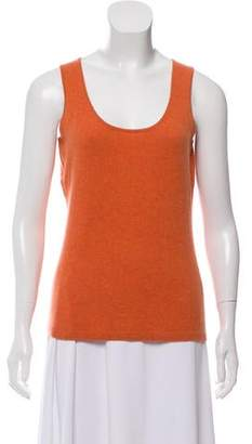 Neiman Marcus Cashmere Scoop Neck Top