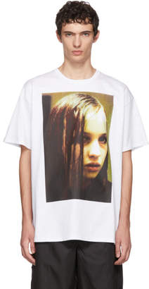 Raf Simons White Christiane F. Wet Hair T-Shirt
