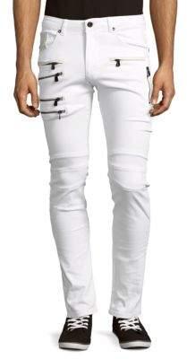Slim Fit Zipper Jeans $165 thestylecure.com