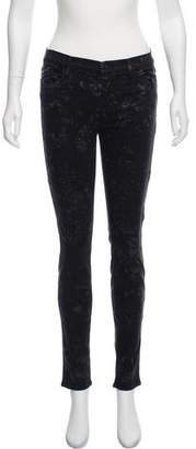 J Brand Printed Mid-Rise Jeans w/ Tags