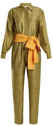 Rhode Resort - Tara Silk Jumpsuit - Womens - Khaki