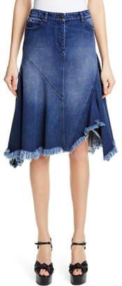 Michael Kors Handkerchief Denim Skirt