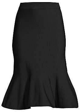MICHAEL Michael Kors Women's Solid Jersey Flare-Hem Skirt
