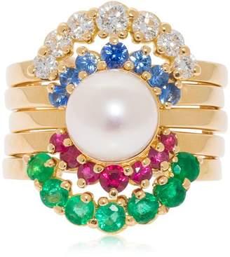 Pompadour 18kt Gold & Pearl Ring