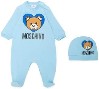Moschino Kids teddy bear print babygrow set