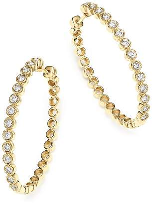 Bloomingdale's Diamond Milgrain Bezel Oval Hoop Earrings in 14K Yellow Gold, 1.0 ct. t.w. - 100% Exclusive