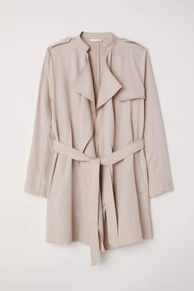 H&M Short Lyocell Trenchcoat - Beige
