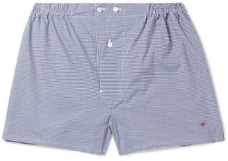 Isaia Gingham Cotton Boxer Shorts