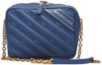Balenciaga Blanket Reporter Xs Shoulder Bag Blue