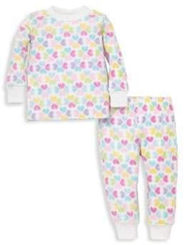 Kissy Kissy Baby's Two-Piece Heart Pajama Top& Pants Set