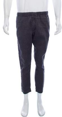 Dries Van Noten Linen-Blend Printed Pants