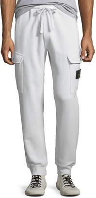 Stone Island Men's Fleece Cargo-Pocket Sweatpants