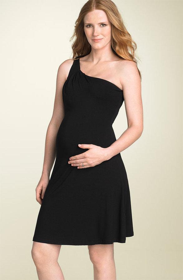 Olian Maternity One Shoulder Dress