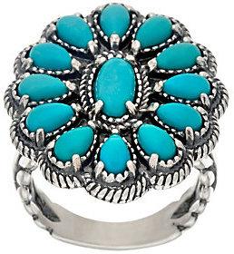American WestAs Is Sleeping Beauty Turquise Sterl. Cluster Ring by American West