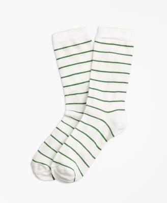 Brooks Brothers Striped Crew Socks