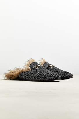 Urban Outfitters Lawrence Furry Herringbone Mule