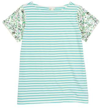 J.Crew crewcuts by Stripe Sequin Sleeve T-Shirt