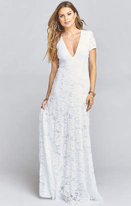 Show Me Your Mumu Eleanor Maxi Dress ~ Lovers Lace White