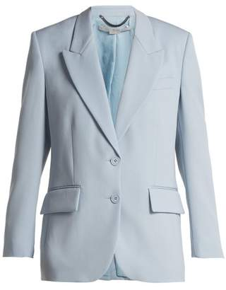Stella McCartney Single Breasted Wool Blazer - Womens - Light Blue