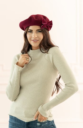 Rachel Parcell Mock Neck Ribbed Long Sleeve Sweater