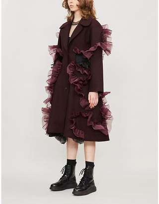 Roberts Wood Frilled wool coat