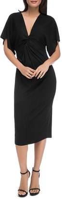 Bobeau B Collection by Aubri Twist-Front Dress