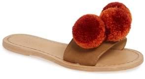 BINGE KNITTING Pom Slide Sandal