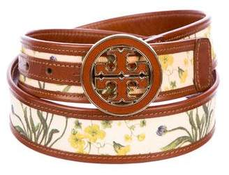 Tory Burch Floral Leather Belt