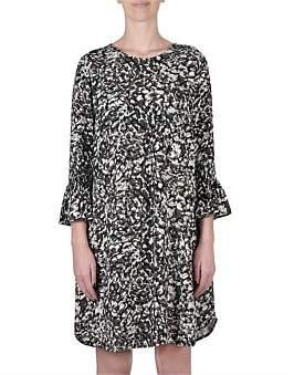 Jump Animal Shirred Slve Dress