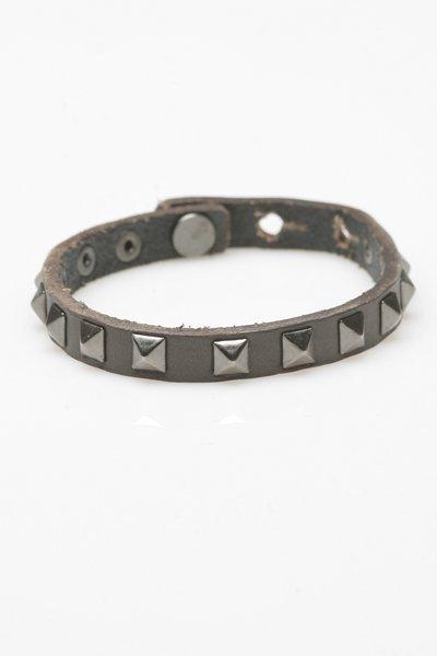 Linea Pelle Skinny Cuff Bracelet in Grey