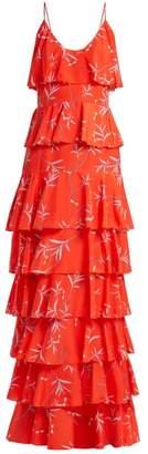 Borgo de Nor Filipa Floral Print Dress - Womens - Red Print