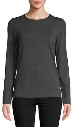 Lord & Taylor Petite Long-Sleeve Iconic-Fit Tee