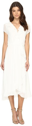 Christin Michaels - Adela Short Sleeve Ruffle Dress Women's Dress $109 thestylecure.com