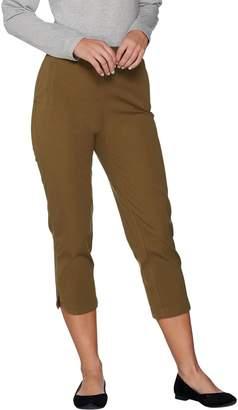 Isaac Mizrahi Live! Regular 24/7 Stretch Pull-On Crop Pants