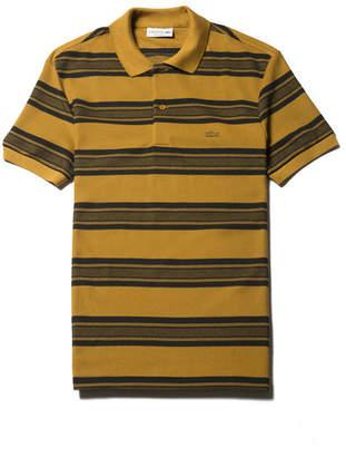 Lacoste Men's Regular Fit Bicolor Stripes Knop Piqué Polo