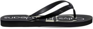 Calvin Klein Jeans 10mm Paulina Logo Rubber Flip Flops