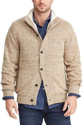 Chaps Men's Sherpa Twist Sweater Jacket