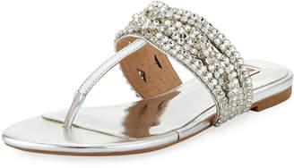Badgley Mischka Trent Low Jeweled Sandal