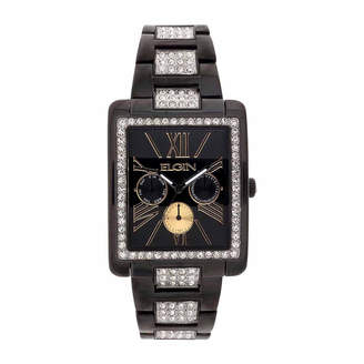 Elgin Mens Black Bangle Watch-Fg10003