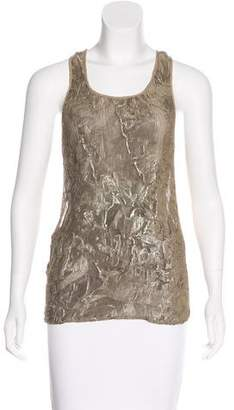 Elizabeth and James Ruched Sleeveless Top