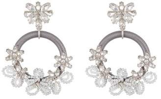 BaubleBar Snowflower Hoop Dangle Earrings