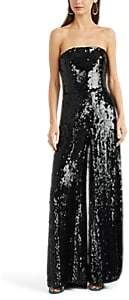 Osman Women's Sequined Strapless Jumpsuit - Black