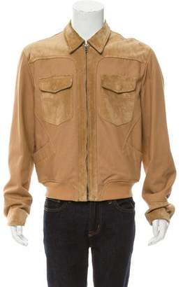 Gucci Suede Trimmed Western Jacket