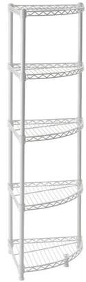 "Sandusky 47"" H x 14"" W 5-Shelf Steel Wire Corner Shelving Unit"